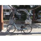 子育て、育児のチャイルドシートのカバーに 電動アシスト自転車、一般に屋根 UV 雨除け日よけパーツ、黒生地の後カゴ Nキット