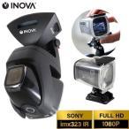 アクションカメラ バイク マウント 自転車 防水 IP67 ドライブレコーダー 24V 小型 駐車監視 簡単設置 フルHD 高画質 200万画素 衝撃録画 INOVA コマ録
