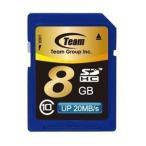 SDカード 8GB class10 秒速最大20MB TEAM チーム SDHC TG008G0SD28Kの画像
