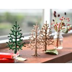 lovi クリスマスツリー 14cm 木製 クリスマス ツリー 飾り 飾り付け 白樺 木 ギフト