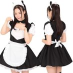ショッピングコスプレ 【送料無料SALE】コスプレ メイド にゃーメイド KH0013BKブラック