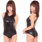 ショッピングコスプレ コスプレ 女子高生 ラバー競泳水着 A0569BKブラック