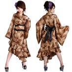 ショッピングコスプレ コスプレ 着物 ロング着物ドレス SUN176F豹柄