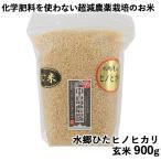 水郷ひたヒノヒカリ 玄米本来のおいしさ 玄米 900g 化学肥料を一切使わない、超減農薬栽培のお米 中島農場