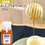 純国産 昔ながらの味わい れんげはちみつ 便利なポリ容器 280g 非加熱純粋蜂蜜 国産天然100% 生はちみつ ピュアハニー 蜂の音