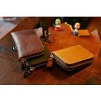 HERZ  ヘルツ ハンドメイドソフトレザージッパー小型財布 Y-59