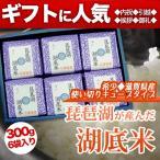 琵琶湖湖底米(精白米)キューブタイプ300g(2合)×6個入り