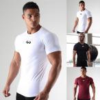 トレーニングウェア スポーツウェア メンズ トップス Tシャツ 半袖 速乾 快適GYD-AL97