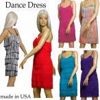 ダンス 衣装 フリンジ ワンピース ダンスドレス パーティー ドレス ヒップホップ 衣装 ゆったりサイズ Sサイズ Mサイズ Lサイズ  アメリカ製