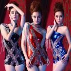 ダンス 衣装 コスプレ レオタード チョーカー 2点セット パンツ ショートパンツ ヒップホップ 衣装 メタリック スタッズ