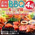 BBQ 【送料無料】 メガ盛り焼肉 焼き肉セット 合計1.6kg 牛肉豚肉5種 骨付きカルビ/ハラミ/肩ロース/豚バラ/トントロ バーベキュー