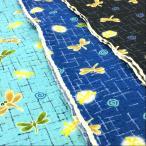 生地 リップル 布 トンボと絣模様 和柄 レトロ 浴衣 甚平 布地 ゆかた 子供 手芸 和風 古典柄 キッズ