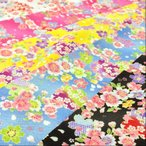 リップル 生地 浴衣 ゆかた SAKURA 布 桜 さくら 花柄 和柄  甚平 布地 手芸 子供 キッズ