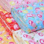 リップル生地 子供 兎と桜 甚平 ゆかた 布 和柄 浴衣 うさぎ 女の子 白 ピンク 赤 水色 黄色 布地