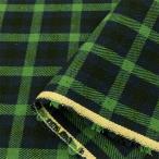 タータン チェック 生地/布(緑×紺)綿 布地 安い 手芸