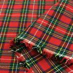 布 生地 タータン チェック(赤×緑、白黄格子)綿 コットン 布地 安い 手芸