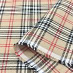 布 生地 タータン チェック(ベージュ)綿 コットン 布地 安い 手芸