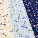 リップル 生地 甚平 トンボ ゆかた 布 和柄 浴衣 布地 手芸 白 紺 ブルー 系 子供 キッズ