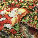 生地 クリスマス 柄 布 サンタクロース ゴブラン織り 布地 北欧風 インテリア 手芸