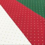 クリスマス 生地 布 ドット(水玉)布地 インテリア 手芸 赤 緑 白 系 テーブルクロス