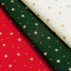 生地 クリスマス柄 布 星とドット 水玉 スケアー テーブルクロス 布地 メール便2mまで可能