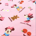 ミニーマウス 生地 キャラクター ディズニー ピンク 綿 オックス おもちゃ メール便可 布地 手芸 メール便