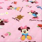 ミニーマウス キルティング 生地 キルト/布(ピンク)ディズニー キャラクター おもちゃ/手芸 入園