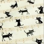 猫柄 生地 布 音譜 キャッツ CoCoLand ねこ オックス きなり 布地/手芸