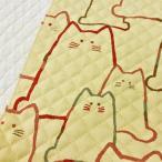 猫柄 キルティング 生地 キルト 布 大きなねこ ベージュ コットンこばやし 手芸 かわいい 布地 3周年セール