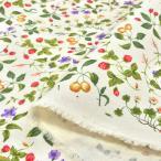花柄 生地 布 綿 おしゃれ フルーツガーデン ツイルプリント 布地 コットンこばやし ボタニカル 植物 手芸