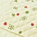 キルト 生地 キルティング 布 てんとう虫とクローバー(生成り)綿麻キャンバス コットンこばやし/手芸 布地