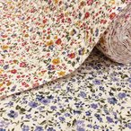 キルティング 生地 花柄 キルト リバティ風 小花柄 ツイル クリーム 赤 青 系 ボタニカル 植物 コットンこばやし 布 手芸 大人