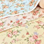 生地 花柄 布 綿 バラ コットンこばやし ベージュ ピンク 水色 布地/手芸 メール便可