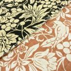 キルティング 生地 キルト 布 鳥と木の実柄 ツイル コットンこばやし 手芸 赤茶 黒 布地