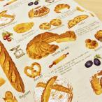 生地 布 パン柄 綿麻 キャンバス 布 生成り 食べ物 スウィーツ ベーカリー コットン リネン コットンこばやし 手芸