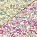 ショッピングプリント リバティ風 花柄 生地 布 ボタニカル プリント ブロード コットンこばやし 手芸 布地 フラワー 緑 紫 系