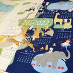 布カレンダー 2022年 動物柄 生地 約60cmのパネル販売 布地 壁掛け メール便3パネルまで可能