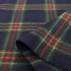 フリース 生地 布 タータンチェック 緑 紺 系/布地 3周年セール