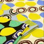 北欧風 生地 布 レモン柄 果物 10番 キャンバス おしゃれ 綿 布地 手芸 コットンこばやし カーテン