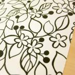 ラミネート 生地/北欧風 花柄 Grove オックスプリント つや消しタイプ 140cm幅広/布 テーブルクロス モノトーン