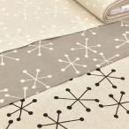 生地 北欧風 布 布地 綿麻 キャンバス Twinkle 広幅 W巾 大柄 ファブリック 黒 白 グレー 生成り 手芸 カーテン