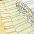 布 生地 インド綿 生地 布 ヘビークロス ボーダー ミント 水色 オリーブ 布地 手芸 3周年セール