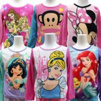Disney ディズニー 子供用 キッズ 冬用 暖か フリース パジャマ 寝巻 プリンセス ミニーマウス ポールフランク  暖か
