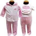 【メール便発送指定で送料無料】PUMA プーマ ベビー 4点セット ギフトセット 0/3ヶ月 3/6ヶ月 出産祝い