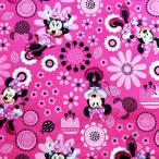 Disney ディズニー ミニーマウス 生地切り売り ハンドメイド キャラクター 入園 入学 通園 通学 手作り 衣装 パジャマ