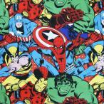 MARVEL マーベル アメリカンヒーロー アメコミ 生地 切り売り ハンドメイド  大柄キャラクター 入園 入学 通園 通学 手作り 衣装 パジャマ