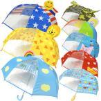 子供傘 キッズアンブレラ 窓付き 立体傘 雨具 手動 手開き 軽い傘 45cm KeyStone キーストーン