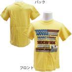 【メール便発送指定で送料無料】DonkeyJossy ドンキージョッシー ラメ入り アメリカンプリントTシャツ 80cm
