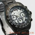 クロノグラフ 腕時計 メンズ腕時計 ブラック クロノグラフ