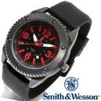 スミス&ウェッソン Smith & Wesson ミリタリー腕時計 KNIVES WATCH BLACK/RED SWW-693-BK [正規品] [送料無料] [ラッピング無料]